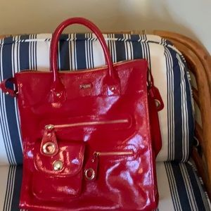Kate Spade patent leather red satchel